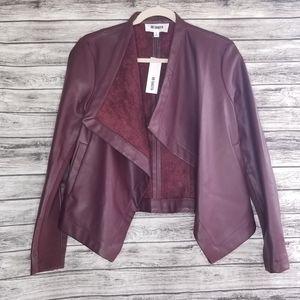 BB Dakota Peppin Vegan Faux Leather Jacket Red